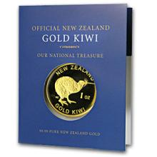 1 oz New Zealand Gold .9999 Kiwi Round (W/ COA)