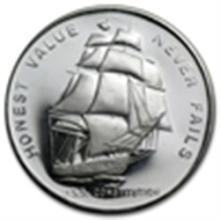 1 oz U.S.S. Constitution Ship Silver Round .999 Fine