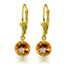 14K. SOLID GOLD LEVERBACK EARRING WITH CIRTINES