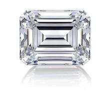 EGL CERT 0.55 CTW EMERALD CUT DIAMOND I/SI1