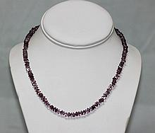 80.01 CTW Amethyst Beads Necklace