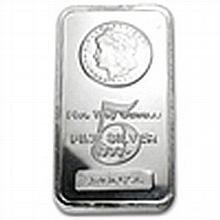 5 oz Morgan Design Silver Bar .999 Fine