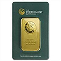 100 gram Perth Mint Gold Bar .9999 Fine (In Assay)
