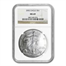 2002 Silver American Eagle - MS-69 NGC