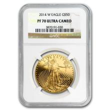 2014-W 1 oz Proof Gold American Eagle PF-70 UCAM NGC