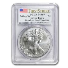 Silver American Eagle - MS-70 PCGS - Random Year