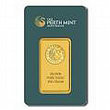 Gold Bars: Perth Mint 100 Gram Gold Bar