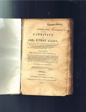 1814 A Narrative Of The Captivity Of Col. Ethan Allen