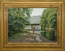 Alexander Farnham (1926-2017) - Wickencheoke Creek at Prallsville
