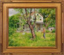 Alexander Farnham (1926-2017) - Yard Work, Stockton, NJ