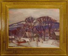 Robert Emmett Owen (1878-1957) - Winter Sketch in the Hills near Sherman, Connecticut