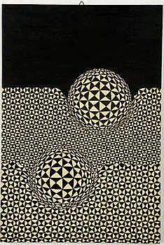 Miroslav Sutej Untitled (2) circa 1970s Acrylic on