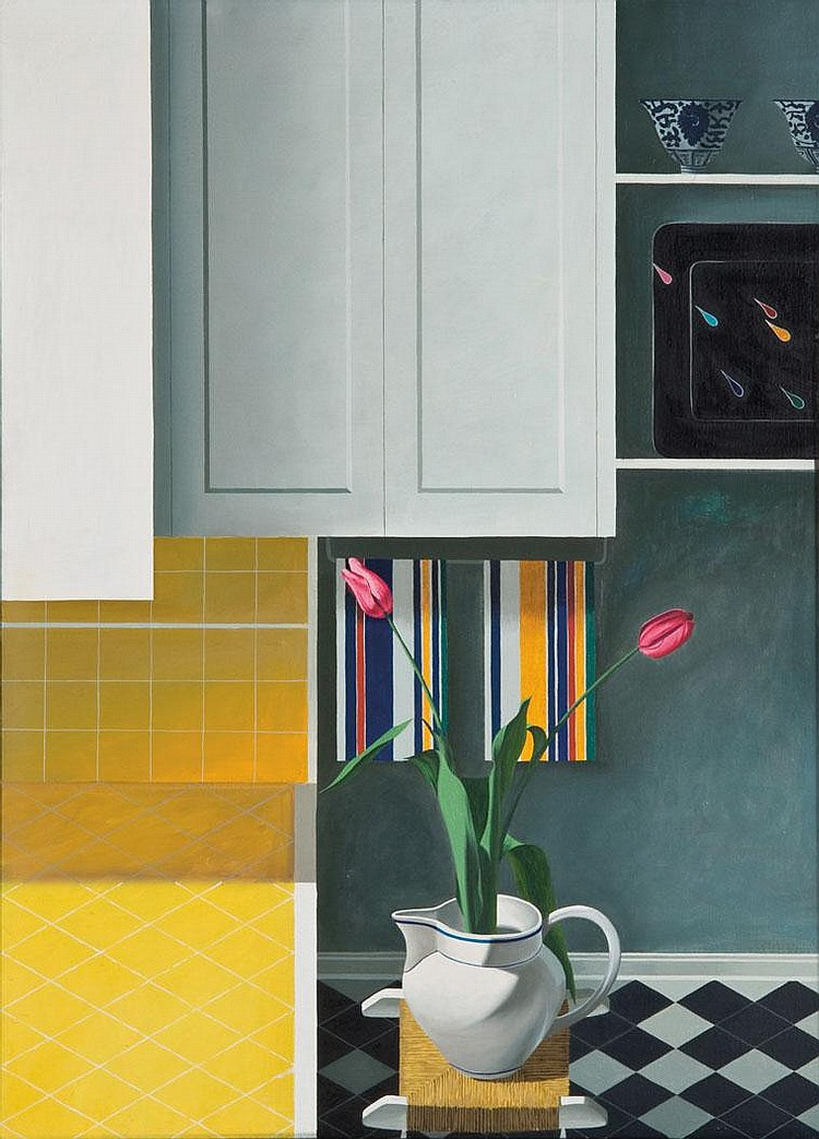 Untitled (Interior with Irises)