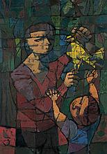 John Altoon: Two Figures and Dove