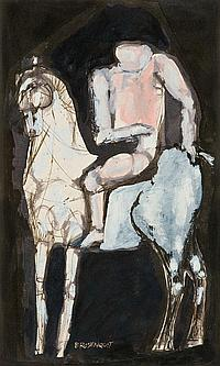 Untitled (Figure on a horse)
