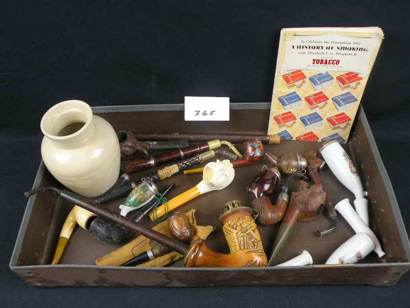 Lot Of Pipes And Tobacco Items