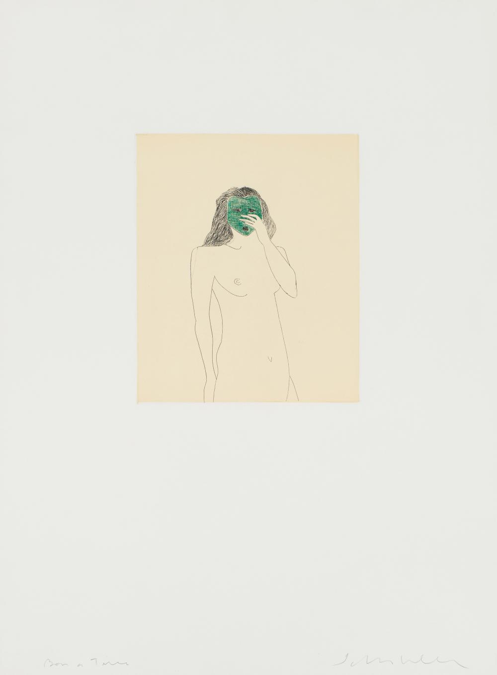 Fritz Scholder Woman with Green Mask