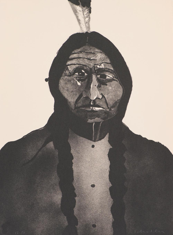 Fritz Scholder Portrait of an American #2 (T: 73-239)