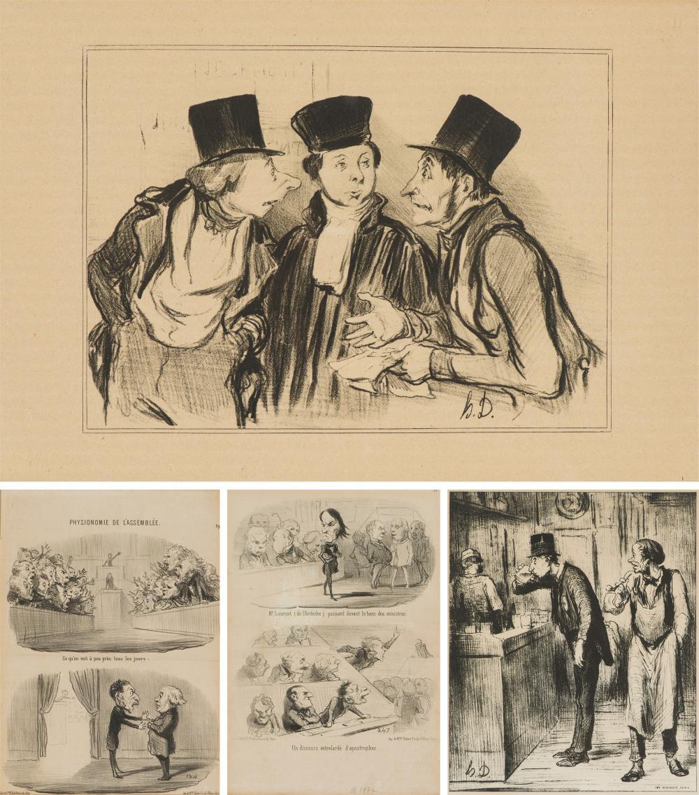 Honoré Daumier (4) Lithographs