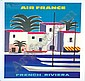 Air France-French Riviera advertising poster by, Guy Georget, Click for value