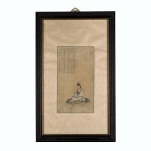 FRAMED CHINESE PAINTING OF GUANYIN