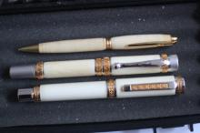 Three German Made Fountain & Ball Point Pens