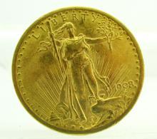 1908 High Grade Saint Gauden's $20 Double Eagle