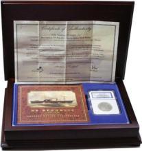 1856 o SS Republic Shipwreck Effect NGC Coin COA