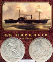 1858 -O SS Republic Shipwreck Coin COA NGC
