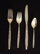 4 pc. Sterling Valencia Pattern Flatware Setting