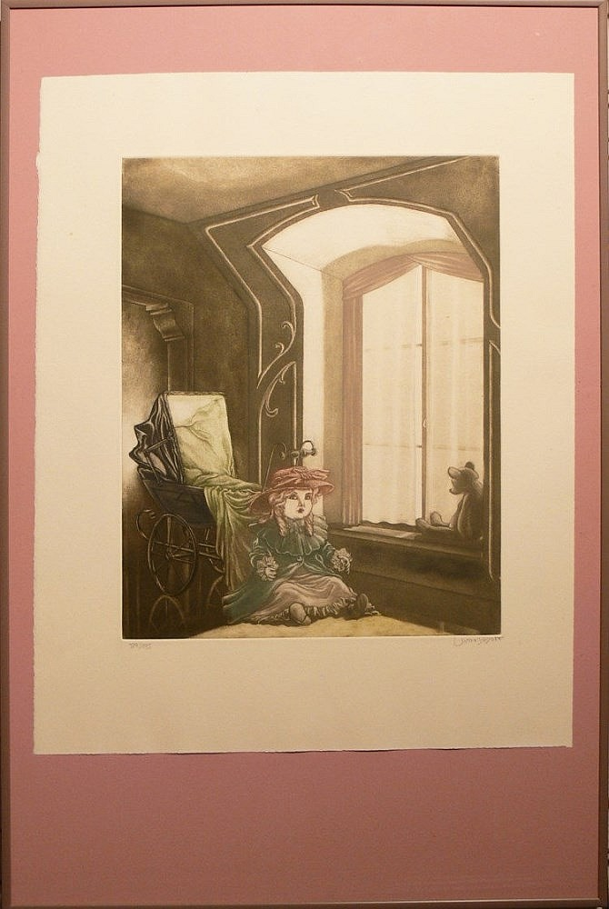 Ramiro Undabeytia (1952 in Madrid geboren), Lithographie hinter Glas gerahmt,