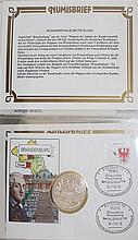 Lot Numisbriefe, mostly East and West Germany
