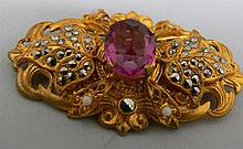 High-quality old fashion brooch with Marcasite