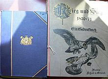 2 Books Military, 1x war and victory in 1870/71 and 1x from Bismarck correspondence