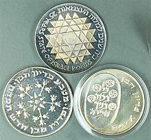 Israel 1975-76, three 25 Lirot - Silver Coins