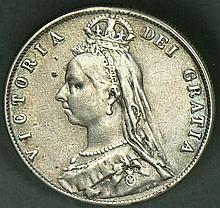 United Kingdom 1889 1 Schilling - silver coin