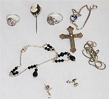 Convolute old silver jewelery