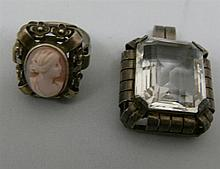 2 older silver jewelry pieces