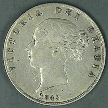 United Kingdom 1845, 1 crown - silver coin