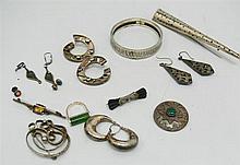 Lot silver jewelry, 12 piece set