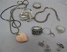 Lot silver jewelry