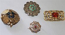 little convoluted fashion brooches