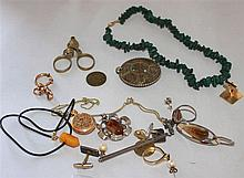 small lot jewelry, silver and fashion jewelry