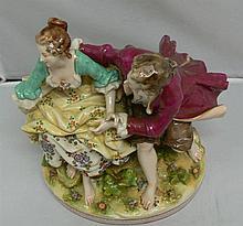 1 large Porcelain figurine