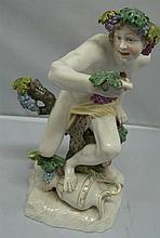 Nymphenburg Porcelain figurine Bacchus