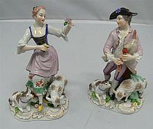 2 porcelain figures Augarten Vienna