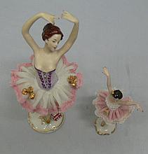 2 porcelain figures Ballerinas