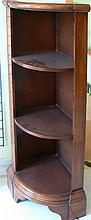 Corner shelf made of wood