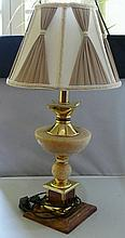 Table floor lamp with marble base and gilding