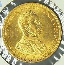German Empire 1913 A, 20.- Mark - gold coin